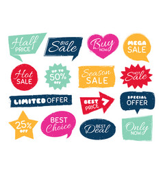 grunge sale badge retro pricing sticker grungy vector image