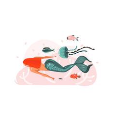 hand drawn abstract cartoon graphic vector image