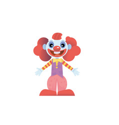 happy clown character vector image