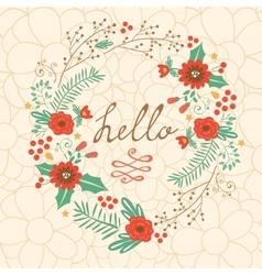 Hello my love vector image