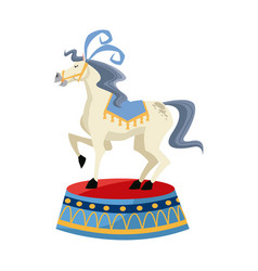 horse circus animal character image vector image