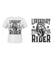 Horse trotter horserace t-shirt print mockup vector