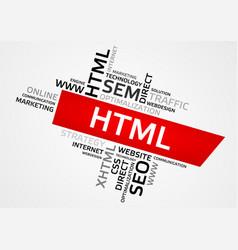 Html word cloud tag cloud graphics vector