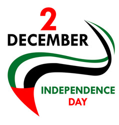 independence day in united arab emirates vector image