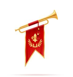 king royal golden horn trumpet vector image