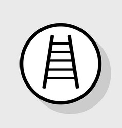 Ladder sign flat black icon vector