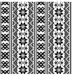 Lapland seamless pattern scandianvian folk vector