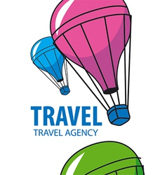 Logo balloon flying Travel vector