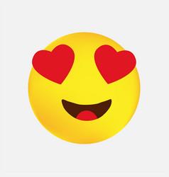 Love emoji icon design eps vector