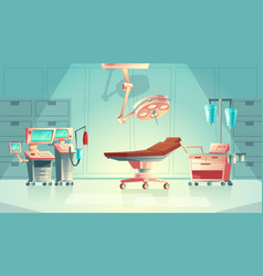 Medical surgery concept cartoon hospital vector
