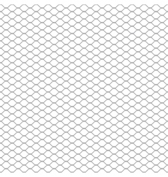 Metal chain link fence seamless on white vector