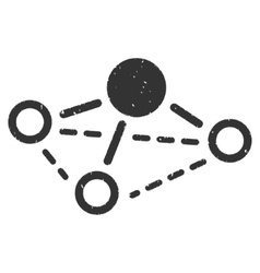 Molecule Icon Rubber Stamp vector