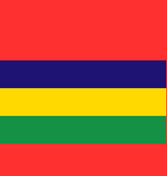 National flag of mauritius vector