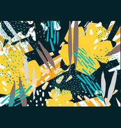 Natural horizontal backdrop with colorful abstract vector