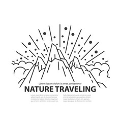 Nature line template vector