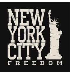 New york typography fashion t-shirt vector