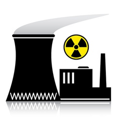 nuclear power plant silhouette vector image