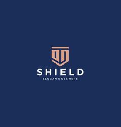 od dd shield logo vector image