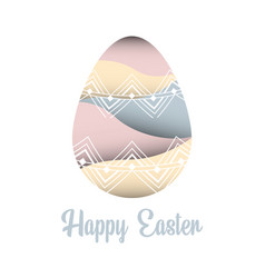 Paper cutting happy easter eps 10 vector