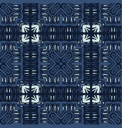 Patchwork mosaic tile motif seamless vector