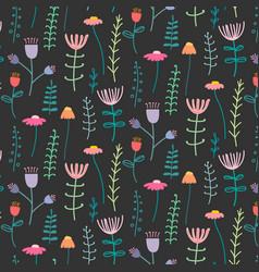 pattern with elegant lovely flower vector image