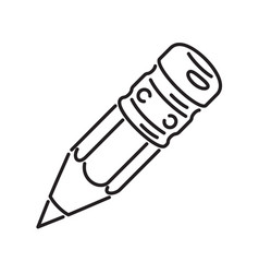 pencil icon volume icons outline style vector image