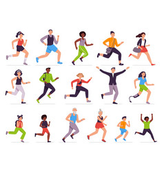 people run running person fast girl and vector image