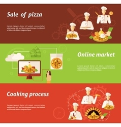 Pizza Sale and Cooking Banner vector