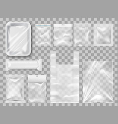 Plastick package packs and containers vector