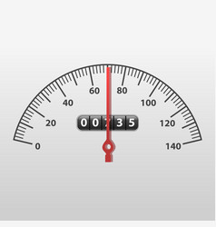Realistic detailed 3d car speedometer panel vector
