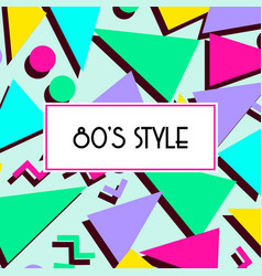 Retro vintage 80s or 90s fashion style abstract vector