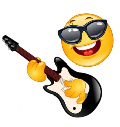Rock emoticon vector