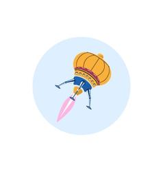 Rocket icon ufo icon vector