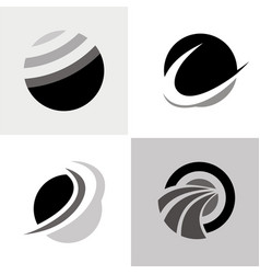 round sphere abstract logos vector image