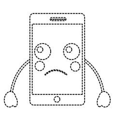 Sad cellphone kawaii icon image vector