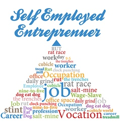 Self employed entrepreneur job occupation vector