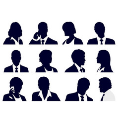 set business people silhouettes vector image