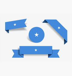 somalian flag stickers and labels vector image