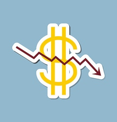 Stock crisis with dollar sign vector