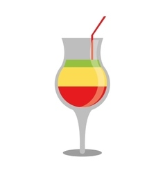 Summer cocktail glass alcohol multicolor vector