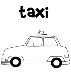 taxi hand draw vector image
