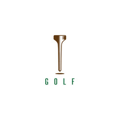 tee golf tool abstract design template vector image