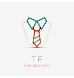 Tie and shirt company logo business concept vector