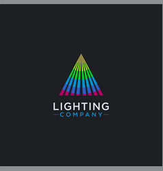 triangle spot lighting logo icon template vector image