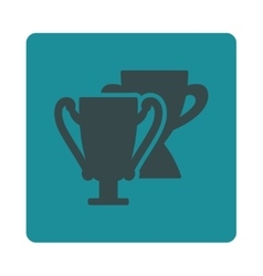 Trophy cups icon from Award Buttons OverColor Set vector image