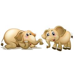 Two playful elephants vector