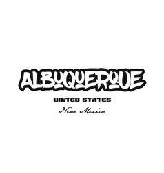 United states albuquerque new mexico city vector
