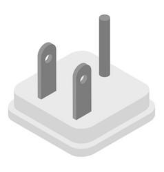 Us plug icon isometric style vector