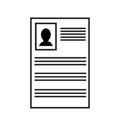 User profile black icon vector image
