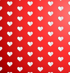 Valentines Day polka dot pattern with paper hearts vector image